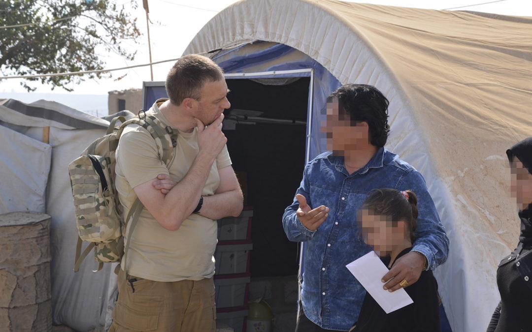 Pomoc dotarła do ostatniej z trzech chrześcijańskich jednostek wojskowych i do cywilów jazydzkich.
