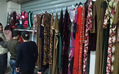 A shop that offers clothes made by women freed from the terrorists has just opened in Khanke
