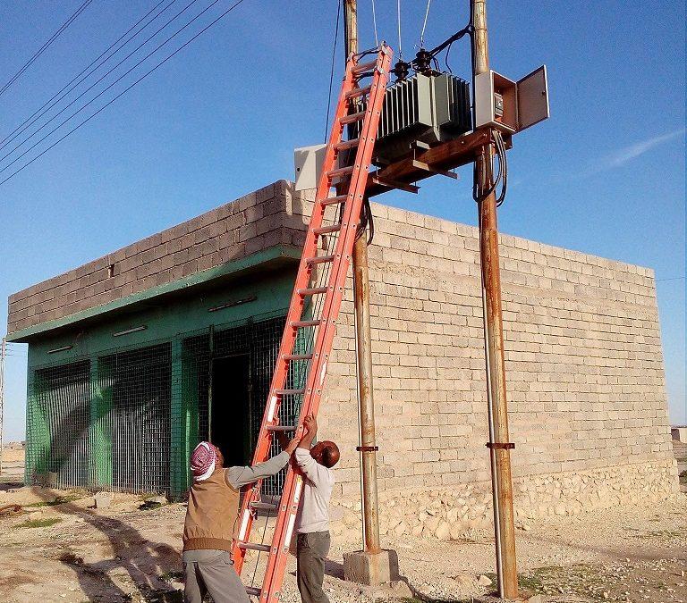 Tydzień temu zakończono projekt naprawy sieci elektrycznej w miejscowości Wardiya –  Orla Straż sfinansowała przywrócenie elektryczności w kolejnej miejscowości w Iraku