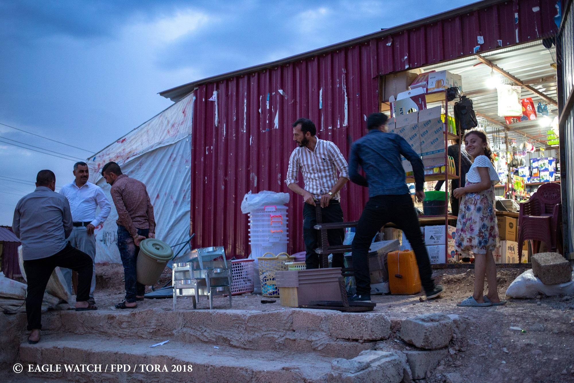 Mieszkańcy obozów dla przesiedleńców chcą pracować