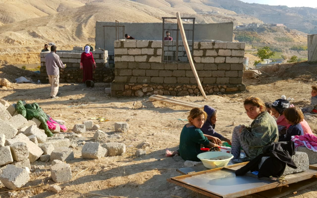 New houses are being built on the ruins. In Sinjar we will build 65 of them